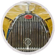 1935 Bugatti Type 57 Roadster Grille Round Beach Towel by Jill Reger