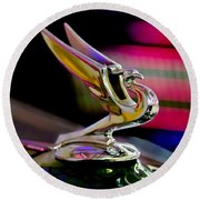 1935 Chevrolet Hood Ornament 2 Round Beach Towel