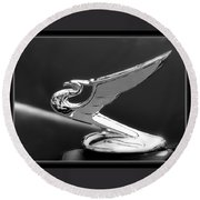 1935 Chevrolet Roadster Dragon Hood Ornament Round Beach Towel