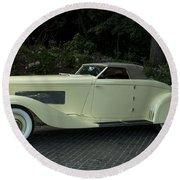 1935 Duesenberg J Roadster  Round Beach Towel