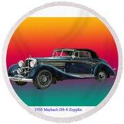 Maybach Zepplin Ds-8 Round Beach Towel
