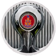 1935 Pierce-arrow 845 Coupe Emblem Round Beach Towel