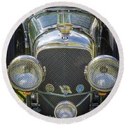 1936 Bentley 4.5 Litre Lemans Rc Series Round Beach Towel