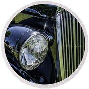 1936 Buick Vectoria Coupe Round Beach Towel