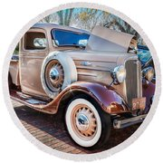 1936 Chevrolet Pick Up Truck Painted    Round Beach Towel