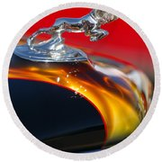 1936 Dodge Ram Hood Ornament 1 Round Beach Towel