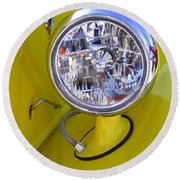 1936 Ford Pickup Headlamp Round Beach Towel
