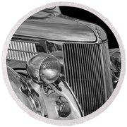 1936 Ford - Stainless Steel Body Round Beach Towel by Jill Reger