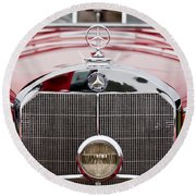 1936 Mercedes-benz 540k Mayfair Special Roadster Grille Round Beach Towel