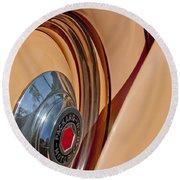 1936 Packard Spare Tire  Round Beach Towel