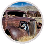 1937 Chevrolet Coupe At Bodie Round Beach Towel