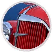 1937 Chevrolet Hood Ornament Round Beach Towel by Jill Reger