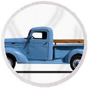 1937 Chevrolet Pickup Truck Round Beach Towel