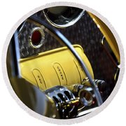 1937 Cord 812 Phaeton Controls Round Beach Towel