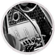 1937 Cord 812 Phaeton Steering Wheel Round Beach Towel