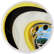 1937 Cord 812 Phaeton Wheel Rim Reflecting Cadillac Round Beach Towel