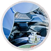 1937 Delahaye 115a Engine Round Beach Towel