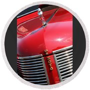 1937 Desoto Front Grill Round Beach Towel