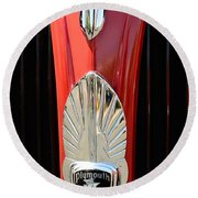 1937 Plymouth  Emblem Round Beach Towel