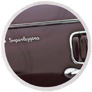 1938 Alfa Romeo 6c 2300 Touring Coupe Emblem Round Beach Towel
