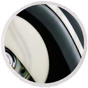 1938 Bmw 327 - 8 Cabriolet Rear Wheel Emblem -2668c Round Beach Towel