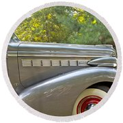 1938 Buick Special Round Beach Towel