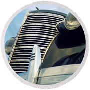 1938 Chevrolet Sedan Round Beach Towel