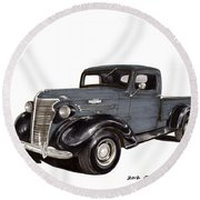 1938 Chevy Pickup Round Beach Towel