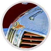 1938 Dodge Ram Hood Ornament 3 Round Beach Towel by Jill Reger