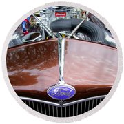 1938 Ford Roadster Round Beach Towel