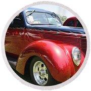 1938 Ford Two Door Sedan Round Beach Towel