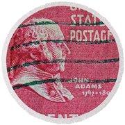 1938 John Adams Stamp Round Beach Towel