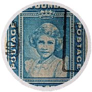 1938 Queen Elizabeth II Newfoundland Stamp Round Beach Towel