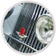 1939 Aston Martin 15-98 Abbey Coachworks Swb Sports Grille Emblems Round Beach Towel