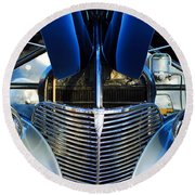 1939 Chevrolet Coupe Grille -115c Round Beach Towel