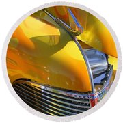 1939 Chevy Hood Round Beach Towel