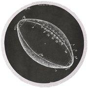 1939 Football Patent Artwork - Gray Round Beach Towel