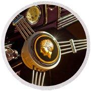 1939 Ford Standard Woody Steering Wheel Round Beach Towel
