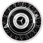 1939 Mercedes-benz 540k Special Roadster Wheel Rim Emblem Round Beach Towel