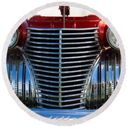 1940 Cadillac Coupe Front View Round Beach Towel