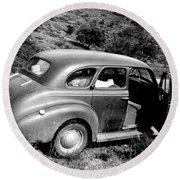 1940 Chevrolet Special Deluxe 4 Door Round Beach Towel