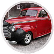 1940 Chevy Coupe Round Beach Towel