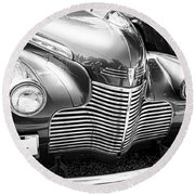 1940 Chevy Grill Round Beach Towel