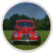1940 Ford Deluxe  Round Beach Towel