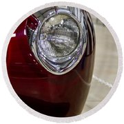 1940 Ford Front Left Light Round Beach Towel