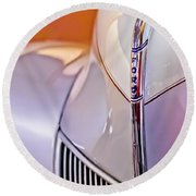 1940 Ford Hood Ornament Round Beach Towel