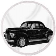1940 Ford Restro Rod Round Beach Towel by Jack Pumphrey
