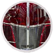 1940 Ford V8 Grill  Round Beach Towel
