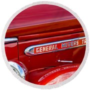 1940 Gmc Side Emblem Round Beach Towel