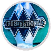 1940 International Emblem Round Beach Towel